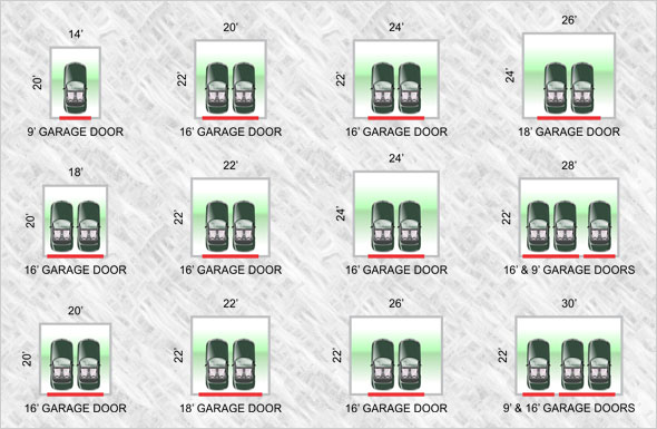 Winnipeg garage builders sizes for Standard garage size in feet